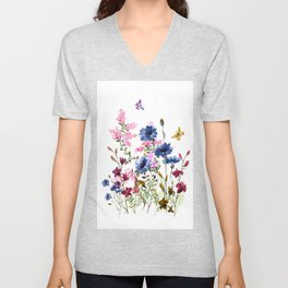 Wildflowers IV Unisex V-Neck