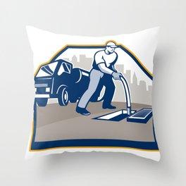Drainage Unblocking Drain Surgeon Retro Throw Pillow