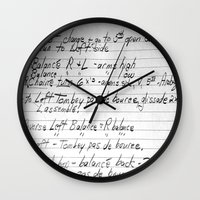 ballet Wall Clocks featuring BALLET by The Family Art Project