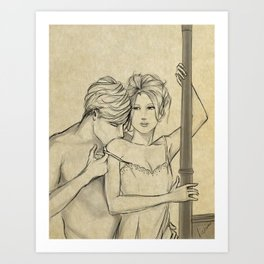 valentine kiss #8 Art Print