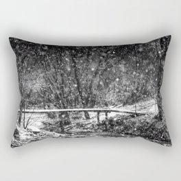 Winter Crossing Rectangular Pillow