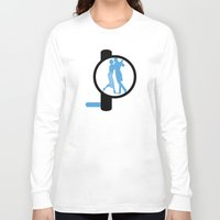bauhaus Long Sleeve T-shirts featuring Dancing Bauhaus by Addison Karl