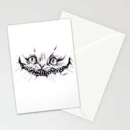 Cheshire Smile Inktober Drawing Stationery Cards