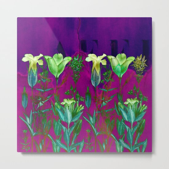 flowers on a wall Metal Print