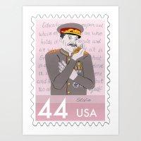 Dictators w/Pets: Joseph Stalin Art Print