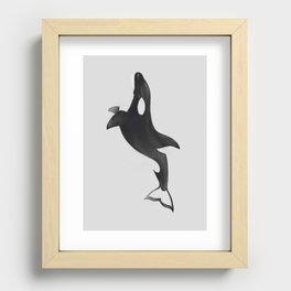 Orcinus orca White Recessed Framed Print