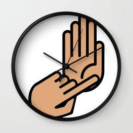 Detroit Michigan Hand Map Wall Clock