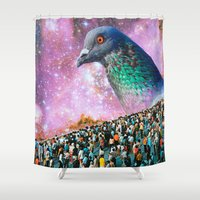 pigeon Shower Curtains featuring Pigeon by John Turck