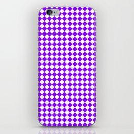 Small Diamonds - White and Violet iPhone Skin