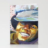 mike wrobel Stationery Cards featuring Young Mike by Monifa Charles