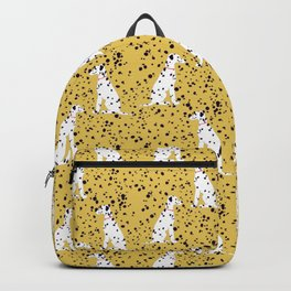 Dalmations Mustard Yellow by A. Talese Backpack