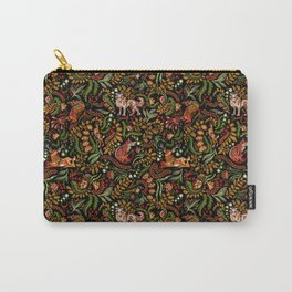 Khokhloma Russian Forest Animals Carry-All Pouch