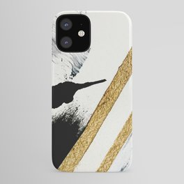 Armor [8]: a minimal abstract piece in black white and gold by Alyssa Hamilton Art iPhone Case