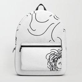 Flying Queen Illustration Backpack