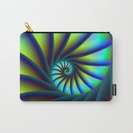Staircase Spiral in Blue and Turquoise Carry-All Pouch