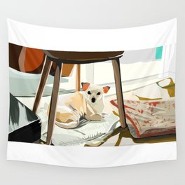 Ho-e under a chair Wall Tapestry