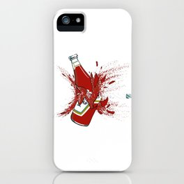 Ketchup Bullet Through The Heart iPhone Case