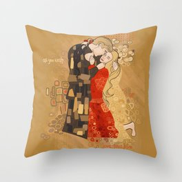 The Invention of the Kiss Throw Pillow