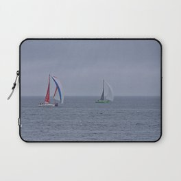 part 1 of 4 of Sailing Battle 42-56  - Transat Quebec St-Malo Laptop Sleeve