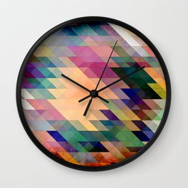 Triangles And Parallelograms Wall Clock