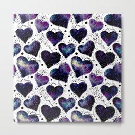 Galaxy Heart Pattern 02 Metal Print