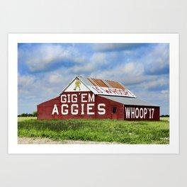 Aggie Barn Art Print