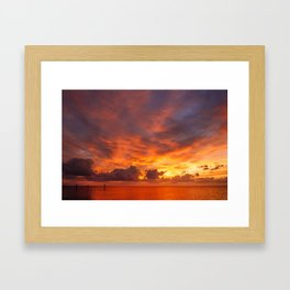 Burning Sunset Framed Art Print