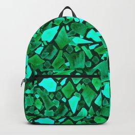 Deep Emerald and Neo Mint Terrazzo Backpack
