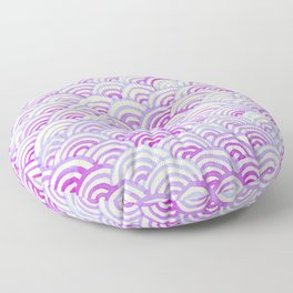 Watercolor Waves - Peach Violet Floor Pillow