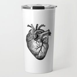 Vintage Heart Anatomy Travel Mug