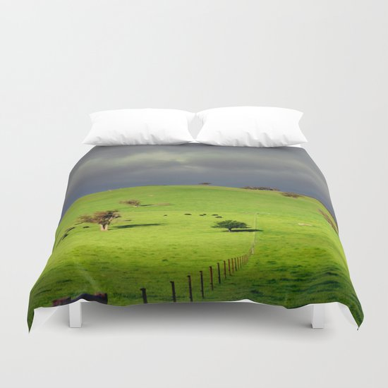 Following the fence Line! Duvet Cover