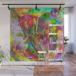 The Smell of Our Digital Flower Park Wall Mural
