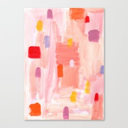 Put Sorrows In A Jar - abstract modern art minimal painting nursery Canvas Print