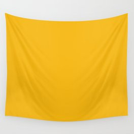 Solid Retro Yellow Wall Tapestry