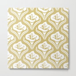 Calla Lily Pattern Gold Metal Print