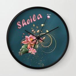 Name Sheila Wall Clock