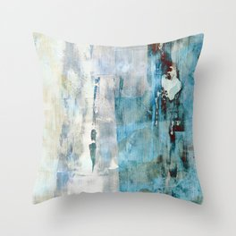 Abstracted Layers Throw Pillow