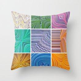 Electric Field Art Throw Pillow
