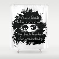friendship Shower Curtains featuring Friendship by Cindys