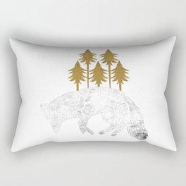 Dying Wolf Rectangular Pillow