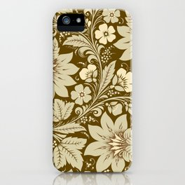 Khokhloma Chocolate iPhone Case