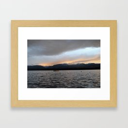 Amber clouds over the Beaufort range 3 Framed Art Print