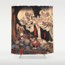 Takiyasha the Witch and the Skeleton Spectre, by Utagawa Kuniyoshi Shower Curtain