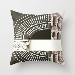 Architecture of Impossible_Ancient Rome Throw Pillow