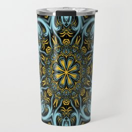 Gothic blue pattern Travel Mug