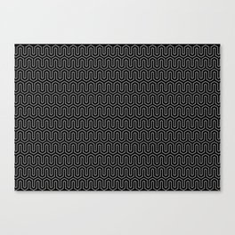 geometric b.w_02.zak Canvas Print