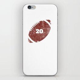 20th  Anniversary Football Twenty Seasons Together iPhone Skin