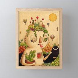 Succulent Man Framed Mini Art Print