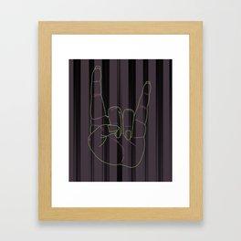 Franken Rocker Framed Art Print