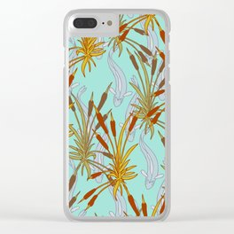 Bulrushes & River Fish Clear iPhone Case